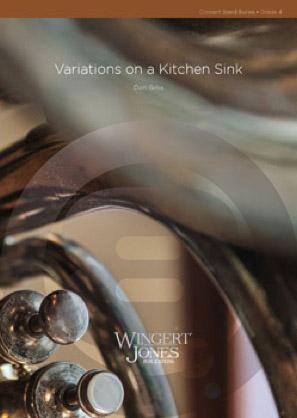 [楽譜] 台所用品による変奏曲《輸入吹奏楽譜》【10,000円以上送料無料】(VARIATIONS ON A KITCHEN SINK)《輸入楽譜》
