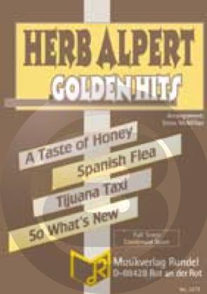 [楽譜] ハーブ・アルパート・メドレー(ティファナ・タクシー他4曲)《輸入吹奏楽譜》【送料無料】(HERB ALPERT GOLDEN HITS)《輸入楽譜》