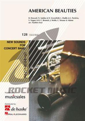 [楽譜] アメリカン・グラフィティV【ニュー・サウンズ・イン・ブラス】《輸入吹奏楽譜》【送料無料】(American Beauties)《輸入楽譜》