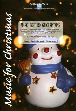 [楽譜] 「クリスマス」マーチ・メドレー(ジングル・ベル他6曲)《輸入吹奏楽譜》【送料無料】(Marching Through Christmas)《輸入楽譜》