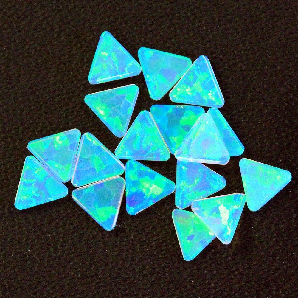 ボロシリケイト用 本日の目玉 アウトレット 三角形の人工オパール ホワイト系でやけにくい綺麗なオパールです オパール 三角 Mint 5mm 1個 耐熱ガラス用 ガラスオパール トライアングル ミント 人口オパール opal アメリカ製