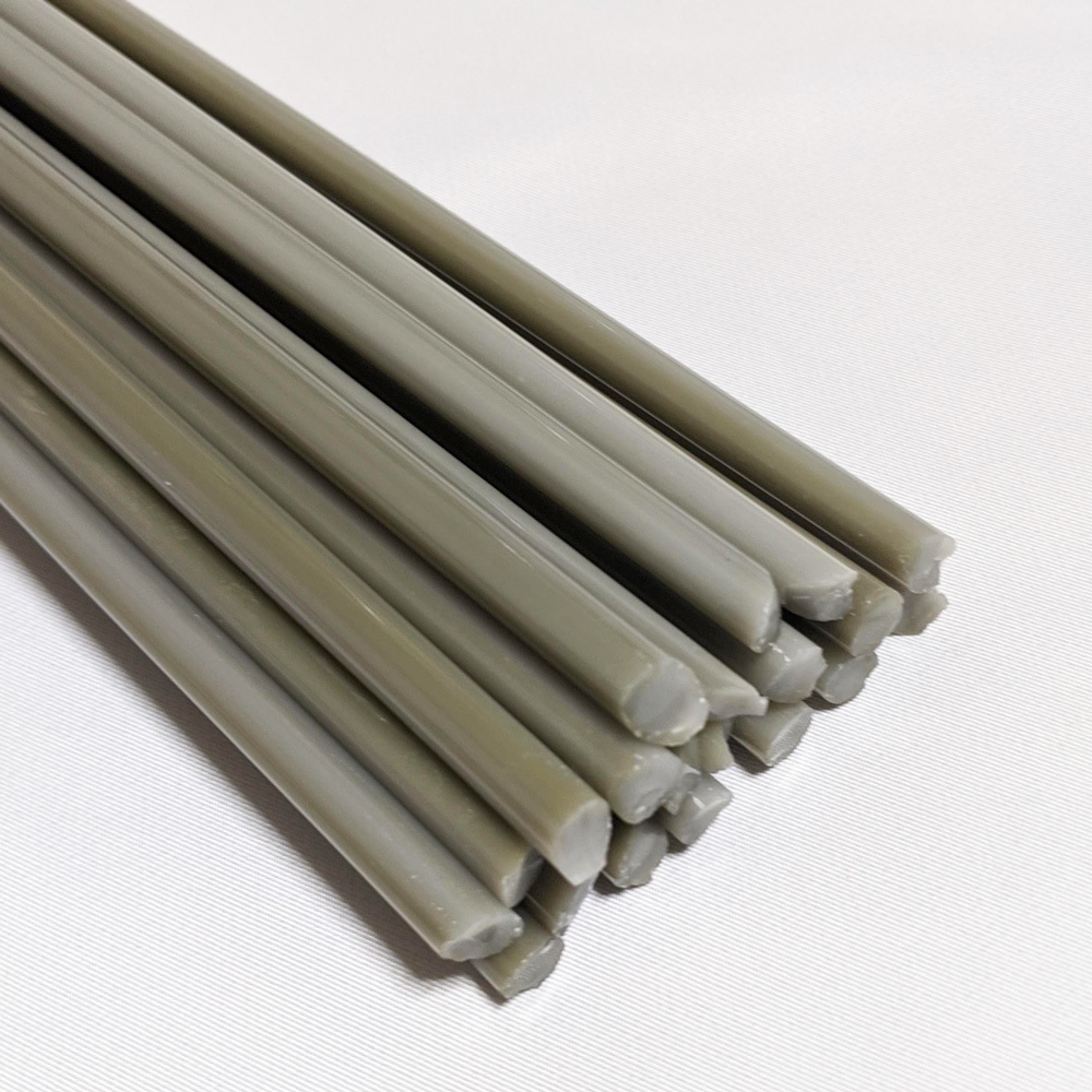 ボロガラス用カラーロッド borosilicate color rod 低価格で使いやすい中国製の色ガラス CR-27 ミルキー グレイ 7mm 天元 ガラス作家向け 約50cm ガラス材料 キャンペーンもお見逃しなく 予約 1本 ガラス棒 ロッド ロペボロ Milky Grey