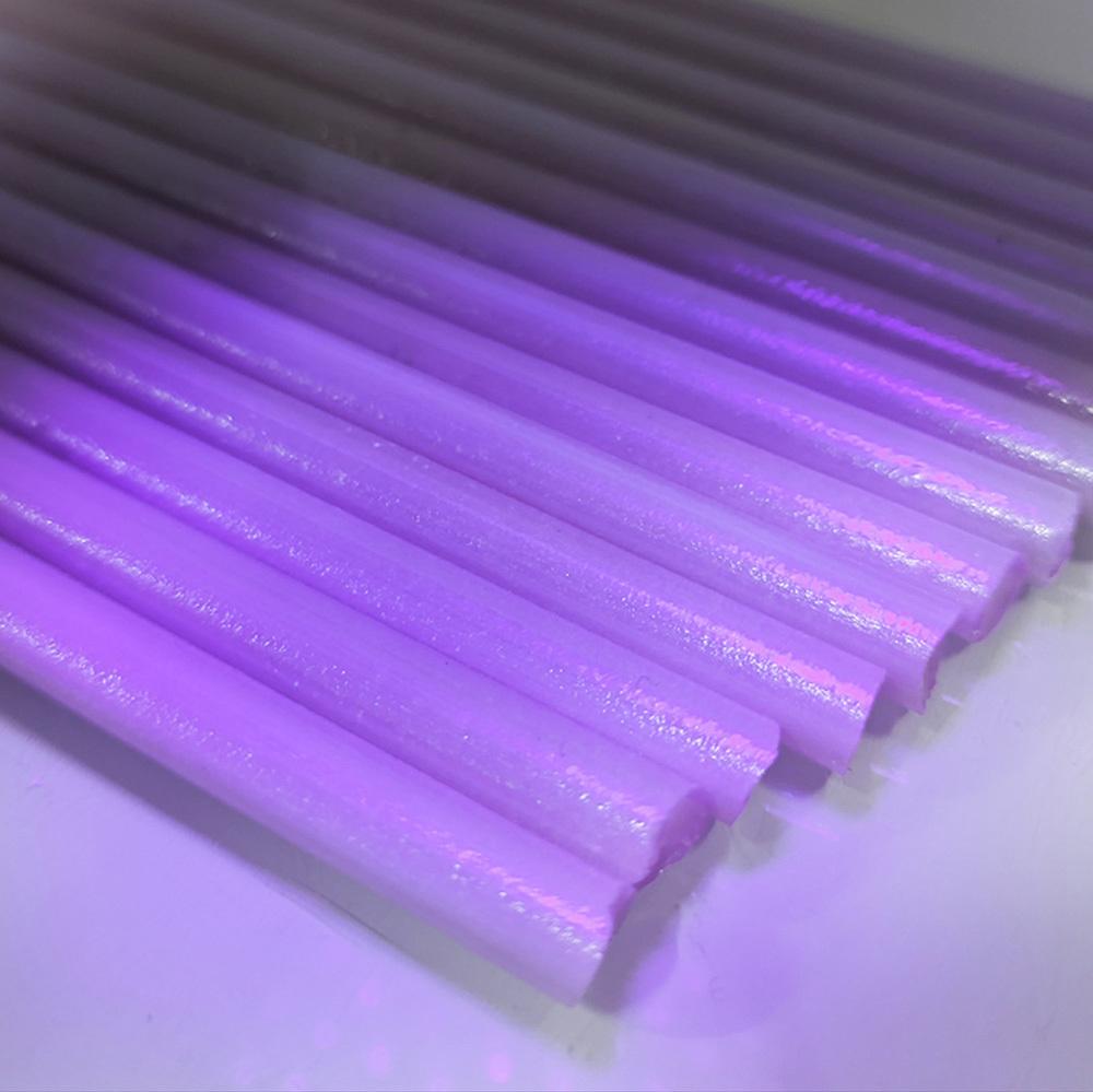 ボロガラス用カラーロッド borosilicate color rod 画像は色のサンプル画像です GY-80 グリージーグラス 捧呈 25g~29.9g P マジック パープル サーティン ロッド 1本 Purple 予約 Greasy クオリティー ガラス棒 ガラス作家向け Magic ガラス材料 First Glass Satin ファースト