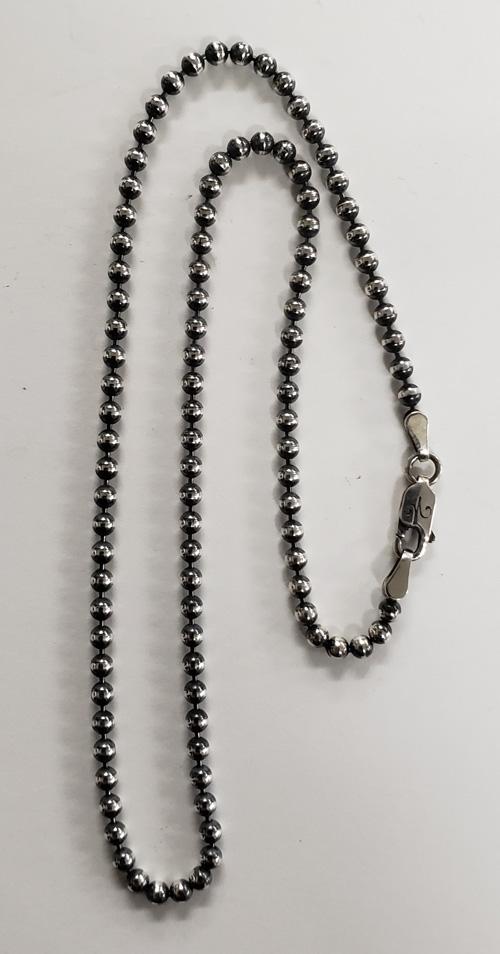 ギフト プレゼント ご褒美 galcia ガルシア NECKLACE (訳ありセール 格安) CHAIN SILVER 925 NC-BA32 シルバー ネックレス チェーン 45cm チェーンのみの販売です