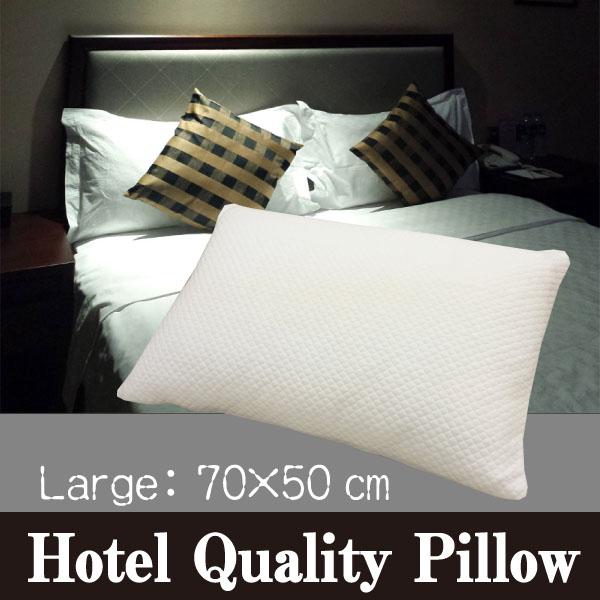 A ホテルのふわふわ枕 Hotel Quality Pillow 高反発枕 L(70×50cm)ラグジュアリーピロー枕 ホテル枕