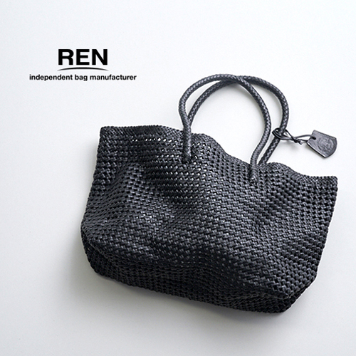 REN【レン】ゴートメッシュレザーバスケットM GM-16012 レディース 山羊革 カゴバッグ