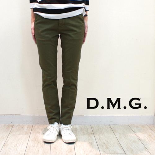 DMG D.M.G. ディーエムジー ドミンゴ コンパクトチノストレッチ アンクルスリムトラウザー 13-763T レディース チノパンツ 美脚パンツ