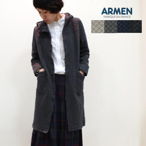 ARMEN【アーメン】コットンキルティングフード付きコート (cotton quilt hooded coat) NAM0553 レディース 綿キルト