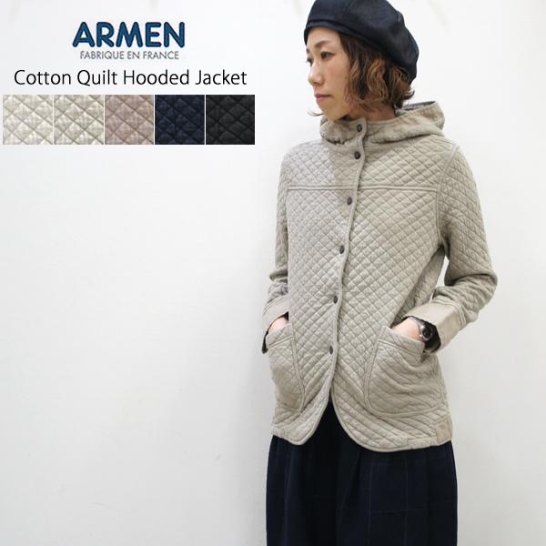 ARMEN【アーメン】コットンキルトフード付きジャケット cotton quilt hooded jacket