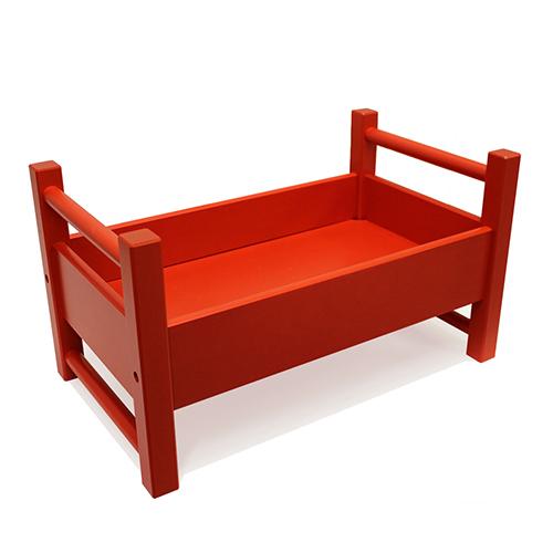 Jussila/ユシラ社 人形用ベッド(小)赤