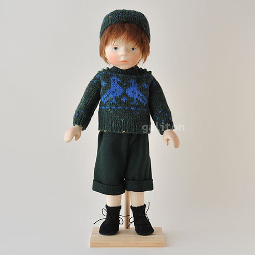 ポングラッツ人形 オールウッド H208 緑セーター緑ズボン