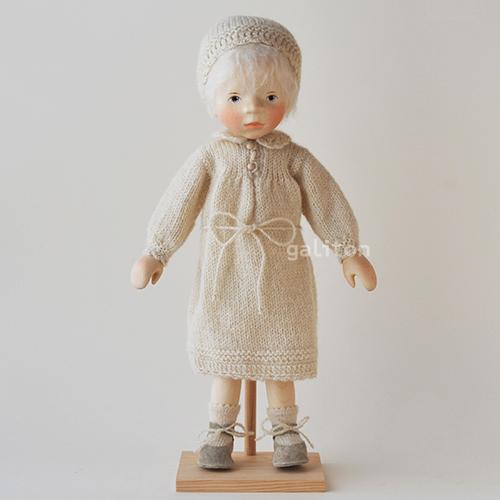 ポングラッツ人形 オールウッド H308 白ワンピース