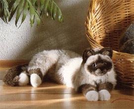 ケーセン社 ぬいぐるみ ねそべり猫 バーマン