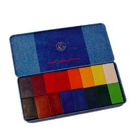 Stockmar シュトックマー社 限定品 蜜蝋クレヨン 希望者のみラッピング無料 ブロッククレヨン16色カン
