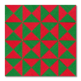 童具館 マグネットモザイク45四角CS(1/4直角二等辺三角形 緑・赤)