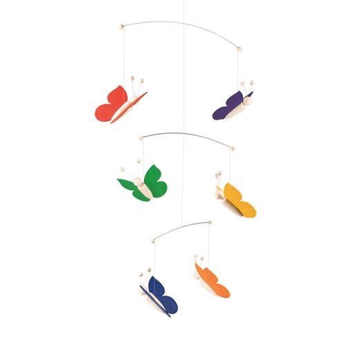 キーナー社 キーナー 蝶のモビール レインボー