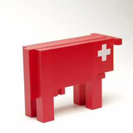 ネフ社naef スイスの赤い牛