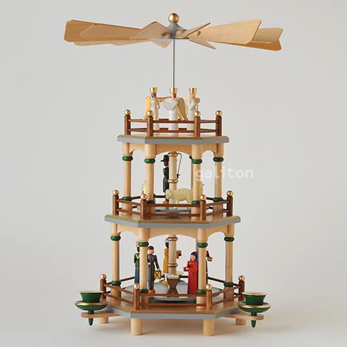 【xmas限定販売】クリスマスピラミッド3段 聖誕 茶