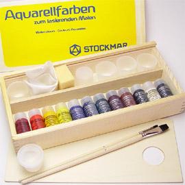 シュトックマー社 透明水彩絵の具セット木箱入