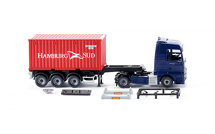 Wiking/ヴィーキング 052348 Container semi-truck (NG) (MAN TGX Euro 6)