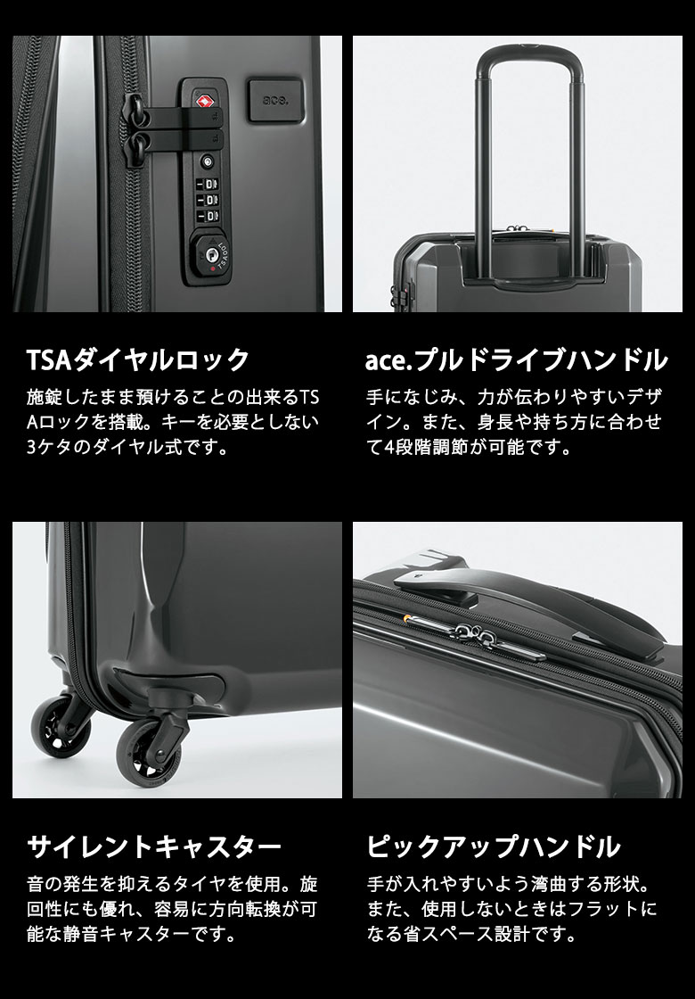 90048f795 GALLERIA Bag-Luggage: ace choice. GENE assign suitcase SQUARE ONE ...