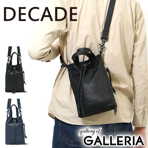 ディケイド バッグ DECADE ショルダーバッグ ななめ掛けバッグ 巾着型 革 レザー ミニショルダー メンズ レディース DCD-01051