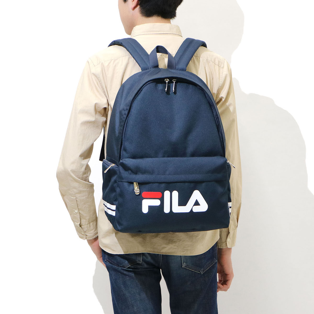 FILA Backpack commuter school bag B4 men's ladies 7494