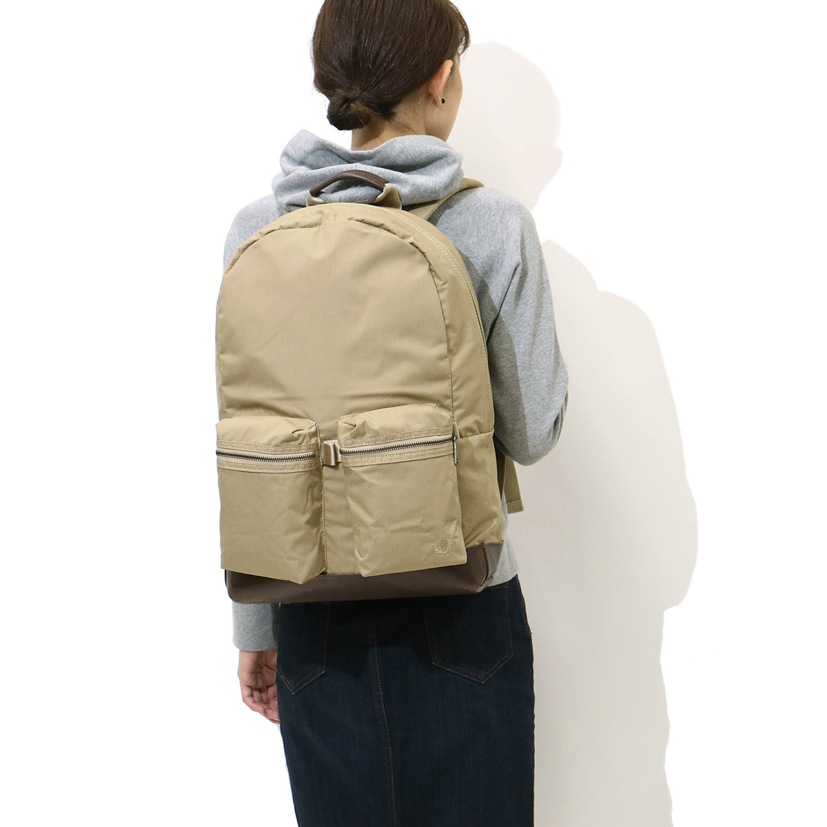 2891fc444 ... FRED PERRY Backpack BACPACK Daypack canvas Men's Women's school F9289  ...