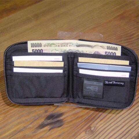 吉田kabampotaragejjireberujiettoburakku LUGGAGE LABEL JET-BLACK对开钱包钱包局拉链人吉田包PORTER 909-08751搬运工人包乐天