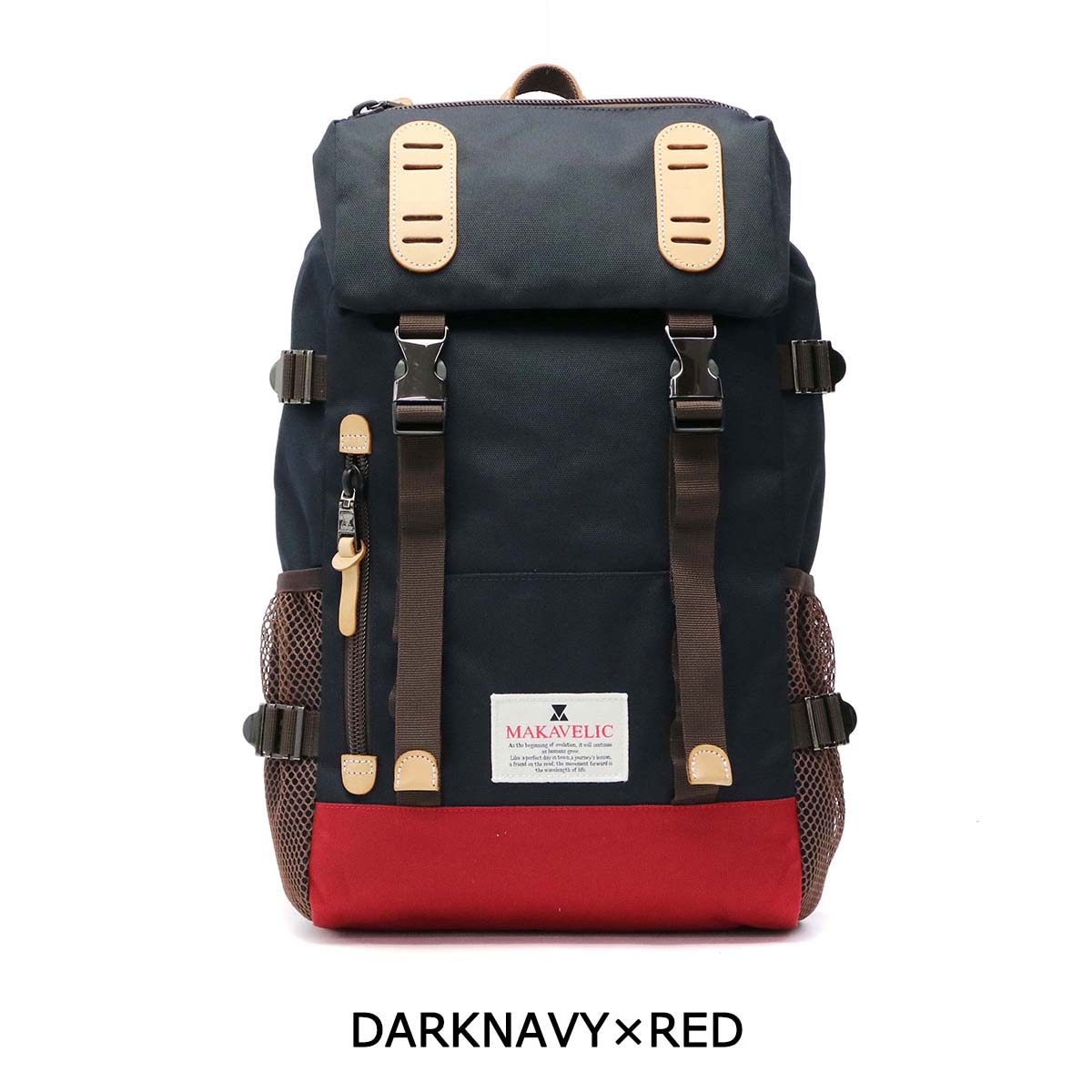 MAKAVELIC daypack backpack TRUCKS DOUBLE BELT DAYPACK MEDIUM mens Womens 3104-10103