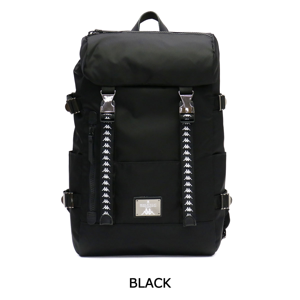 1437d0ad68 ... MAKAVELIC backpack MAKAVELIC X Kappa DOUBLE BELT BACKPACK limited B4  men s ladies KL 918 BA 02 ...