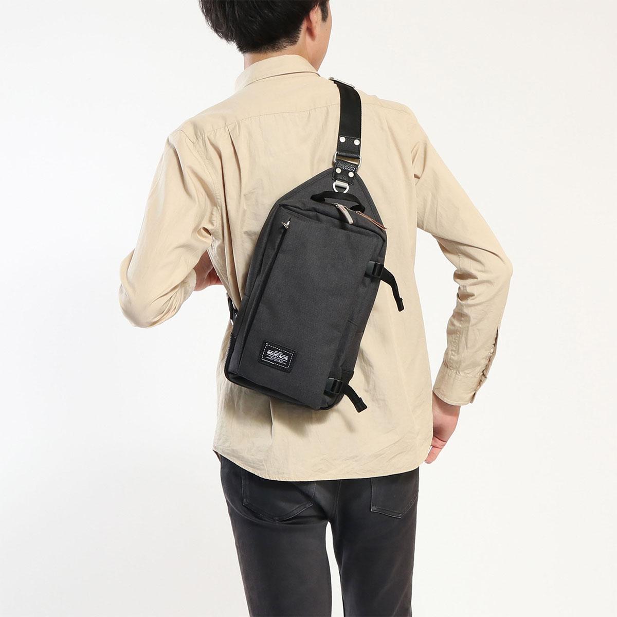 MOUSTACHE body bag diagonally large tablet storage vertical type men s  ladies VUV-4600 1387777a43b0e