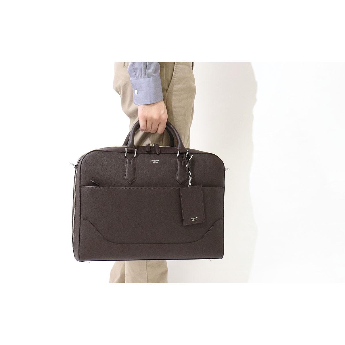 PELLE MORBIDA 2-WAY Briefcase Capitano business bag (B4-aware) leather bag men's CA014