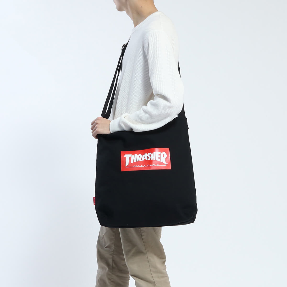 Thrasher Print Tote Shoulder Bag 2 Way B 4 Vertical School High Men S Women Thc 803