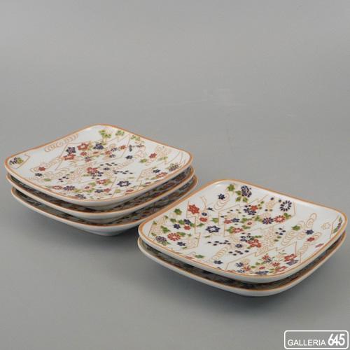 流水梅 銘々皿揃え(5枚セット)木箱入り:アリタポーセリングラボ【送料無料】