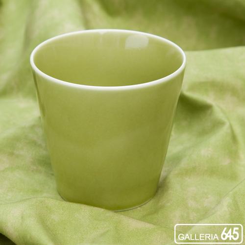 訳あり商品 日本の伝統和食器 特選有田焼 未使用品 ロックカップ グリーン :645オリジナル