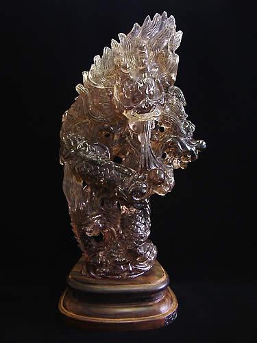 ルチル水晶 龍