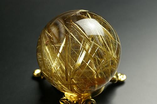 最高級品タイチンルチル水晶丸玉41mm