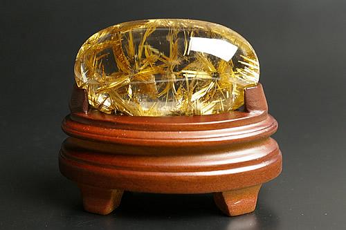 究極のルチル水晶フリーカット W花火