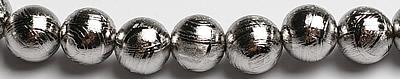 ●スーパーSALE● セール期間限定 訳あり 業界最安値に挑戦中 6mmギベオン メテオライト 粒売りビーズ ロジュウム加工