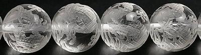 12mmヒマラヤ水晶 龍彫刻粒売りビーズ 8Aグレード 情熱セール ガーネッシュヒマール産 SA 人気海外一番