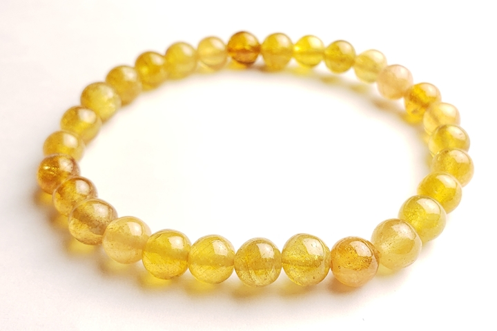 7mmイエローサファイアブレスレット 宝石質グレード++ アフリカ産