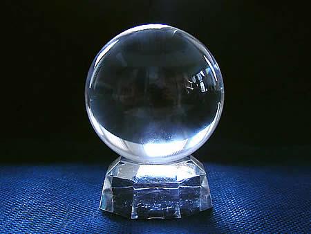 最高級品鑑別証付き5A無垢水晶丸玉55mm