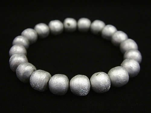 超レア品!シリンダー型10mmギベオン隕石ブレスレット (メテオライト) ナミビア産