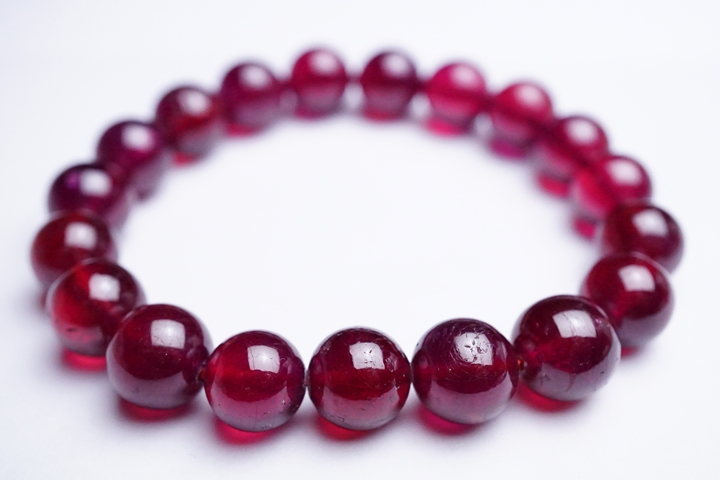 10.5mmミャンマー産ルビーブレスレット 宝石質グレード++, かねこのお米:20deac71 --- sunward.msk.ru