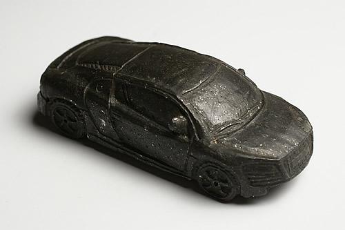 博物館クラス 隕石 彫刻 Audi R8 Dhofar 001 オマーン産