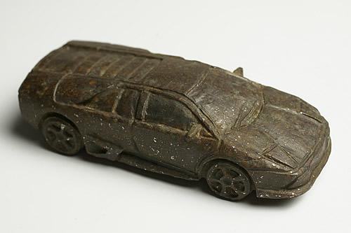 博物館クラス 隕石 彫刻 Lamborghini LP 640 Dhofar 001 オマーン産