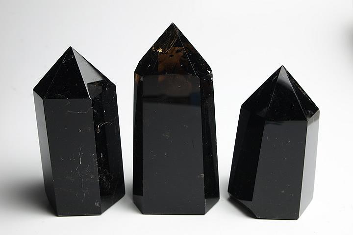 純天然特級チベットモリオン(黒水晶)ポリッシュポイント201-250g 四川省産