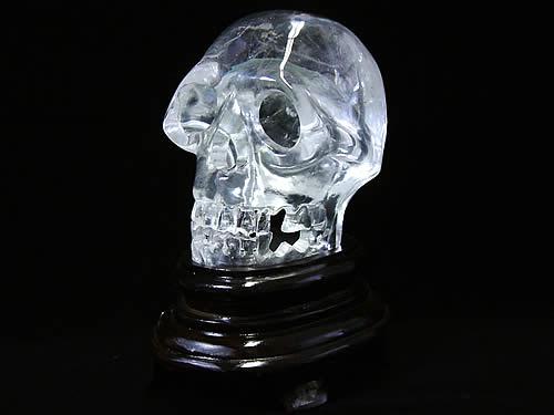 水晶ドクロ彫刻