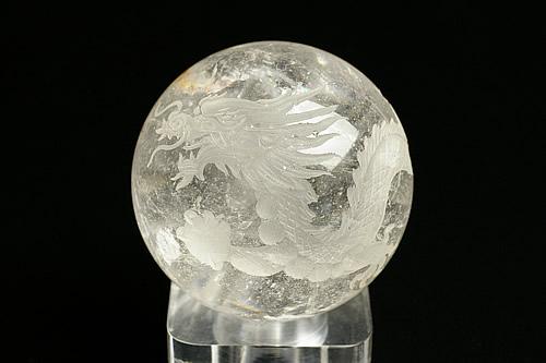水晶白龍丸玉 直径65mm